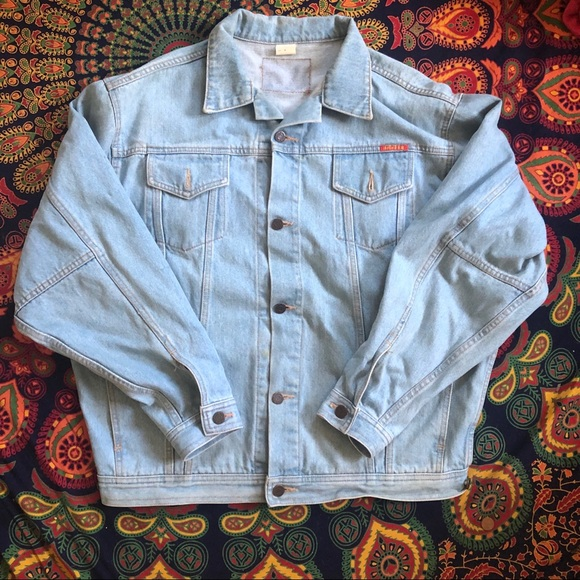 Men/'s Distressed Vintage Woven Hooded Denim Jean Cobain Shirt Jacket